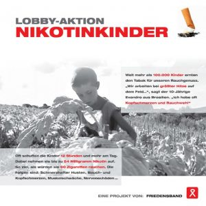 Flyer zur Aktion NIKOTINKINDER