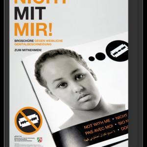 """Plakat zur Broschüre """"Nicht mit mir!"""""""