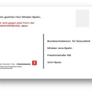 Postkarte an den Bundesgesundheitsminister
